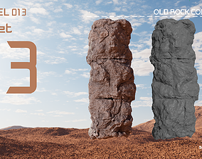 3D model Old Rock Column v1