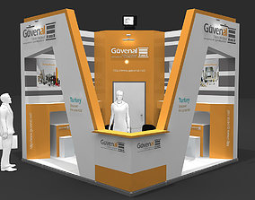 Exhibition Stand - ST0057 3D model