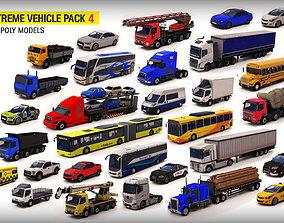 3D model VR / AR ready Vehicle Pack 4