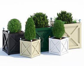 kochia Cross planters 3D model