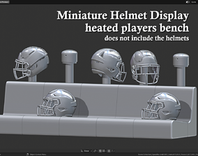 Miniature Helmets Display Diorama - 3D printable model 3
