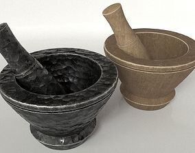 3D asset Mortar and Pestle Set