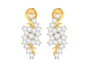 printable Women earrings 3dm render detail