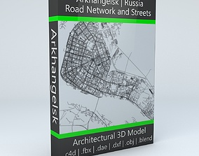 Arkhangelsk Road Network and Streets system 3D model