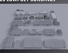 3D asset Warehouses Buildings Collection