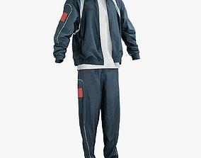 Sport Jacket Pants TShirt Sneakers 3D asset