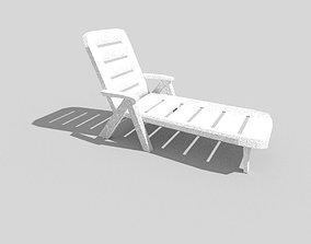 3D asset low poly beach cot 2