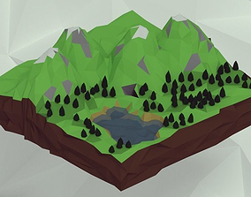 3D asset Mountains
