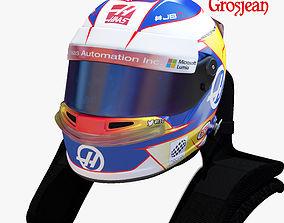 3D asset Grosjean helmet 2017