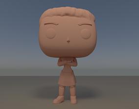 Custom Pop Female Arms Crossed Figure 3D Print Model