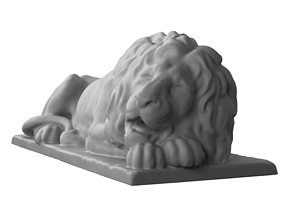 3D printable model scan Lion from Lviv