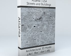 Atlanta Streets and Buildings 3D