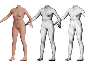 Character 48 High and Low-poly - Body female 3D model