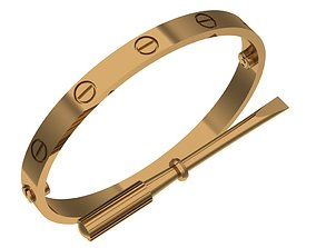 3D print model love bracelet 20 size