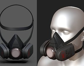 3D model Gas mask protection futuristic technology