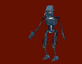 3D asset animated realtime Robot man