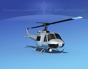 3D model Bell 204 Bare Metal