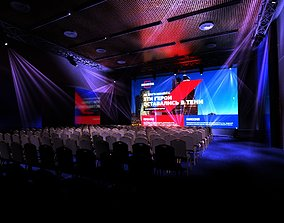 3D Radisson Collection Ukraina Hotel Conference Hall