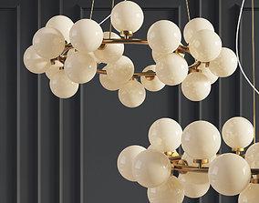 Chandelier Inflora 25 plafonds by Atelier Areti 3D model