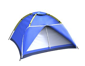 camping tent forest 3D model