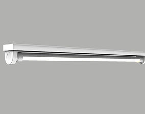 3D model Tube Fluorescent Light - 1 Meter