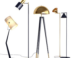 3D Collection of Floor Lamps interior