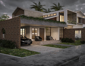 3D model contemporary Modern House