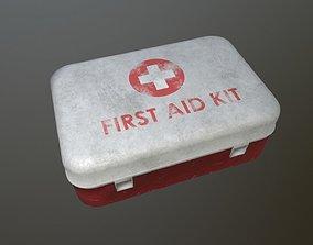 3D asset VR / AR ready First Aid Kit Dirt