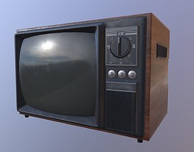Old Tv 3D model VR / AR ready PBR