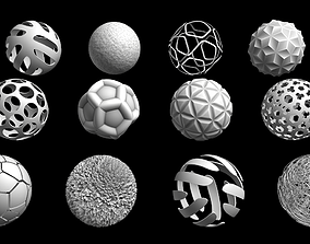 Abstract spheres 3D model