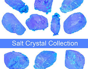 3D model Blue Salt Crystal Collection 5 items