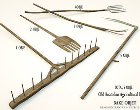 OLD ANATOLIAN AGRICULTURAL TOOLS DESIGN 3D model
