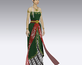 Bedhaya Ketawang Java Culture 3D model