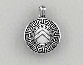 3D print model Spartan hoplite shield pendant set