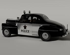 3D 1948 ford police car