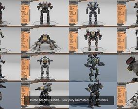 Battle Mechs Bundle - low-poly animated - 3D model