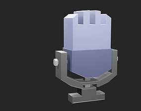 3D model Low poly microphone 3