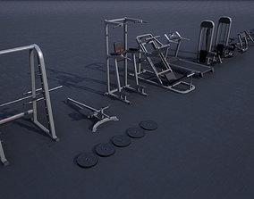 3D model Gym Props PACK 02