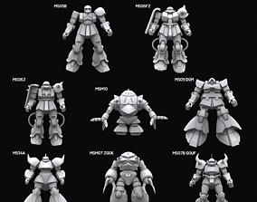 Gundam mobile suit Zeon collection 3D