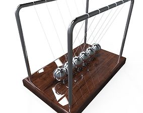 Newtons Cradle 3D model low-poly