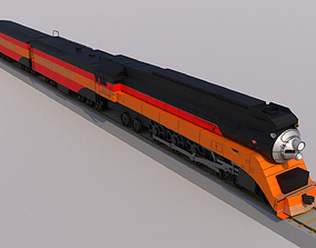 3D model Daylight Steam Locomotive Train