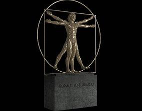 Vitruvian Man By Leonardo Da Vinci 3D model