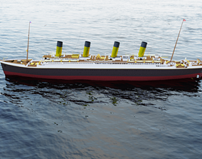 Titanic in Blender 2 80 and 2 79 and 3Ds Max Student
