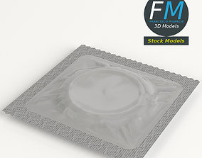 Condom wrapped 3D model