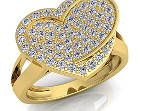 Woman Diamond Ring 3d Model Print shining