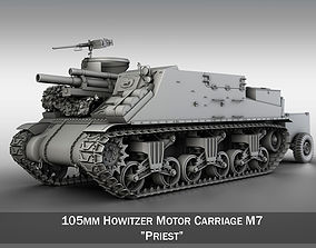 M7 Priest - Howitzer Motor Carriage 3D