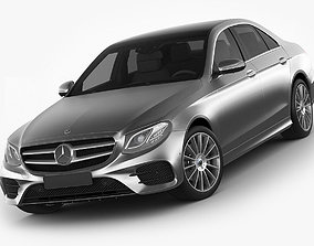 3D model Mercedes E-class AMG package sedan 2017