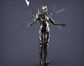 Robotic Female Character 3D model