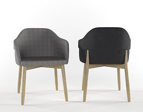 3D Wooden chair by Billiani