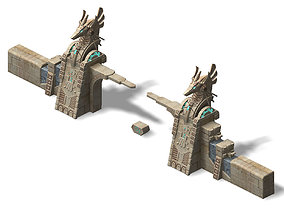 3D Different dimension - Egypt - City Gate 02